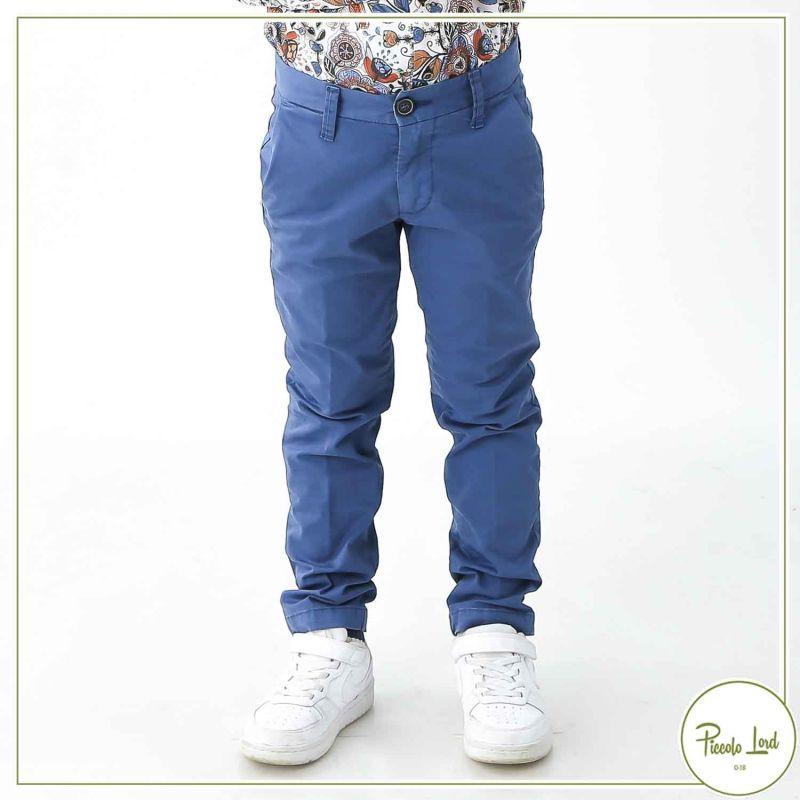 Chino SP1 Indaco Abbigliamento Bambini Primavera Estate 2021 B3101869