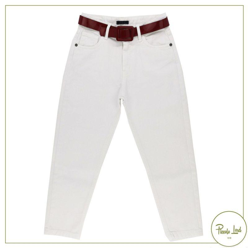 Denim bianco J'Aimè Abbigliamento Bambina Primavera Estate 2021 2839-G-PN