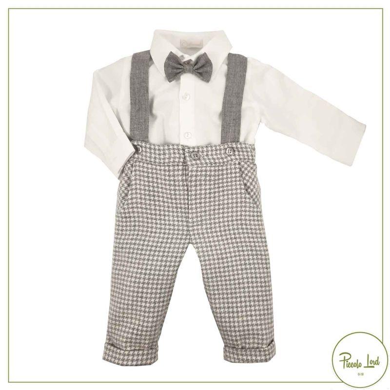 Camicia+Pantalone Ninnaoh Grigio Abbigliamento Neonato Autunno Inverno 2021 I21219