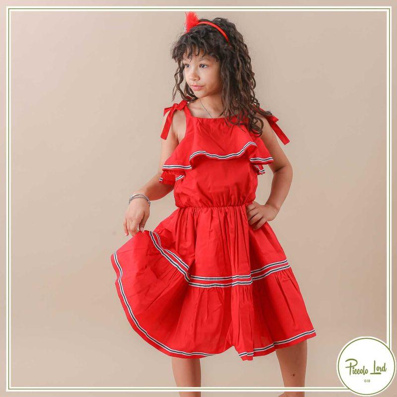 Miniabito Fracomina Red Abbigliamento Bambini Primavera Estate 2021 F621SD2011J40001-234